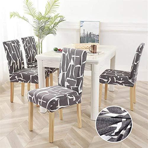 Cojines de silla de jardín 1 pieza estampado floral funda elástica cubre silla extensible spandex estilo europa Anti-Sal extraíble 1/2/4/6 unidades (color U, tamaño: 2 unidades)