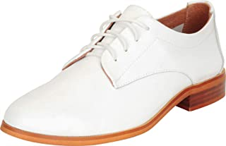 Cambridge Select Women's Lace-Up Genuine Leather Classic Low Block Heel Oxford