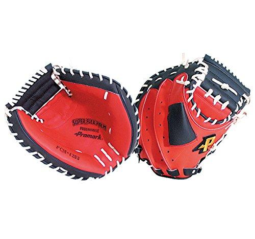 『サクライ貿易(SAKURAI) Promark(プロマーク) 野球 一般軟式用 グラブ(グローブ) 捕手用 キャッチャーミット レッドオレンジ×ブラック PCM-4253』の3枚目の画像