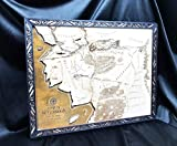 Handmade Large Wooden Map Compatible with Hobbits and Beleriand Map LOTR | Set of coasters | Map Gift Idea| Decor Map | Gift Idea Fantasy Map | Gift for Him | Gift for Her