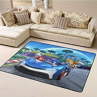 Area Rug,Sonic Area Rug Boys Room W78.7xL118 inch