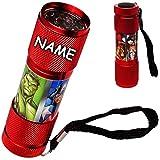 alles-meine.de GmbH Taschenlampe LED - Avengers - inkl. Name -