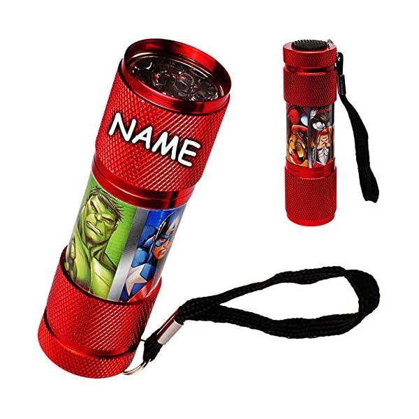 alles-meinede-GmbH-Taschenlampe-LED-Avengers-aus-Metall-Mini-Lampe-Schlsselanhnger-9-Fach-LEDlicht-Licht-Auto-Kindertaschenlampe-fr-Jungen-Metalltaschenlampe