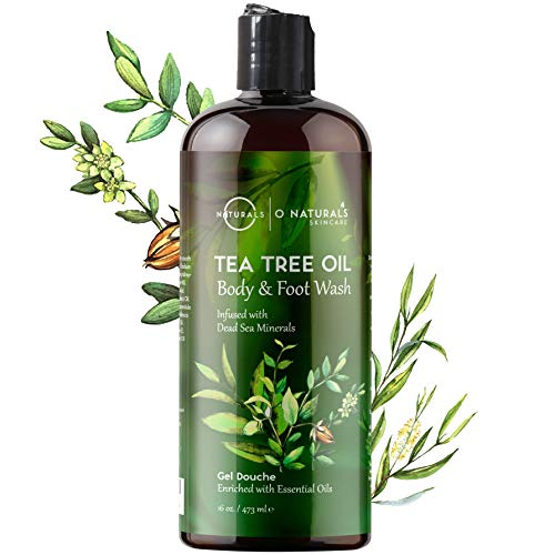 O Naturals Deep-Cleansing Tea Tree Essential Oil Body Wash. Fights Body Odor. Helps Treat Skin