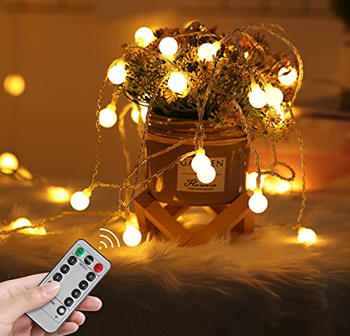 2 Pack Battery Operated String Lights Globe Indoor Outdoor...