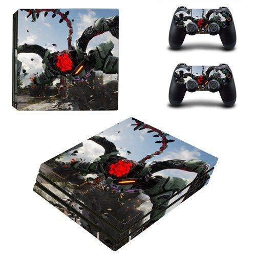 Calantha & Partner PS4 Pro Whole Body Vinyl Skin Sticker Decal Cover for Playstation 4 System Console and Controllers  Space war