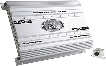 Premium Lanzar Car Audio, Amplifier Car Audio, Car Stereo Amplifier, 4,000 Watt, 4-Channel, Mosfet Amplifier, RCA Input, Subwoofer Bass Control, Power Amp, LED Indicator, Car Electronics