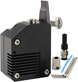 FYSETC Impresora 3D piezas de metal extrusor BMG clonado Tech Bowden Dual Drive extrusor para 1.75 filamento Prusa i3 Wanhao D9 Creality Ender 3 Anet A8 Tevo Tarantula Anycubic I3, negro derecho