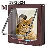 Pujuas Katzenklappe Hundeklappe mit 4-Wege-Magnet-Schließ, Haustierklappe für Katzen und kleine Hunde, Katzentüre mit Tunnel