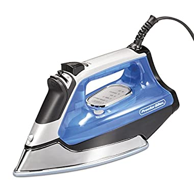 Proctor Silex Electronic Ceramic Nonstick Soleplate Steam Iron, Blue