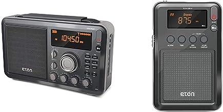 Eton Elite Field AM/FM/Shortwave Desktop Radio with Bluetooth & Elite Mini Compact AM/FM/Shortwave Radio (Graphics/Marking...