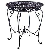 aubaho Gartentisch Tisch Garten Bistrotisch Eisen Antik-Stil Gartenmöbel braun