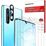 QITAYO für Huawei P30 Pro Schutzfolie und Kamera Panzerglas, Blasenfrei, Ultra-HD, Fingerabdruck-ID unterstützen Weich TPU Displayschutzfolie für Huawei P30 Pro (3+1 Stück)