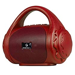 Zebronics Zeb-County Bluetooth Speaker with Built-in FM Radio, Aux Input and Call Function (Red),Zebronics,Zeb-County