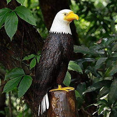 Chisheen Eagle Outdoor Decor Metal Yard Art for Patio Lawn Garden Statues Sculpture