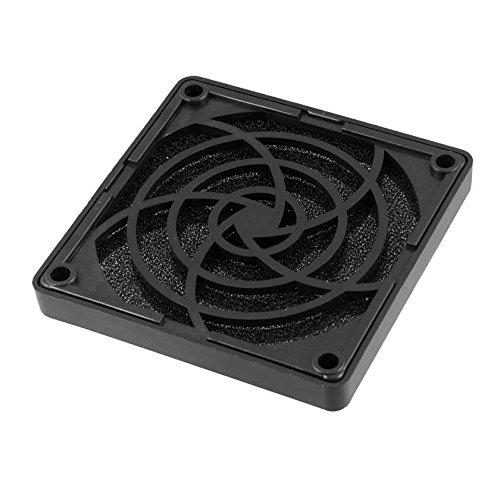 SODIAL(R) Negro Ventilador de caja de PC 80mm Filtro a prueba de polvo cuadrado plastico Malla de proteccion contra el polvo