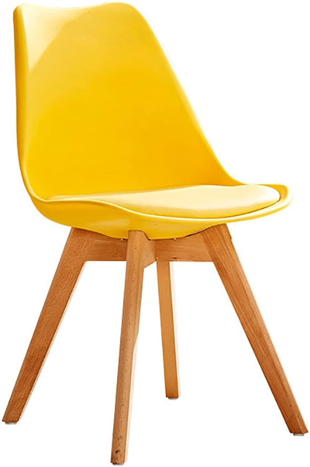Teng Peng Chair - Simple Personality Nordic Leather seat, Living Room, Bedroom, Study Room Waterproof Anti-fouling Chair Household Products (color   E)