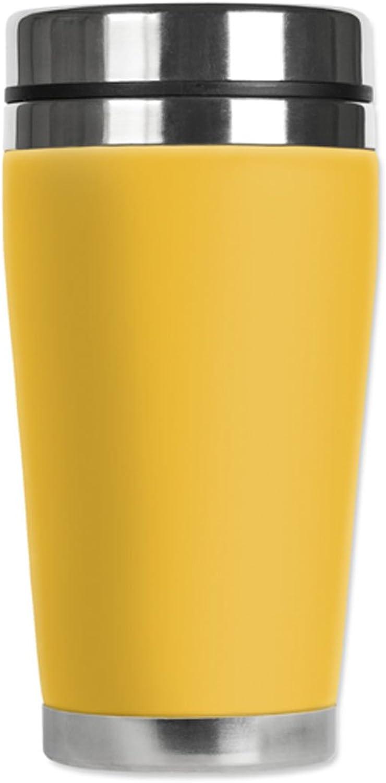 Mugzie Travel Mug with Insulated Wetsuit Cover, 16 oz, amarillo by Mugzie
