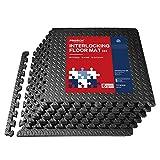 PROIRON Schutzmatten Fitness 6er Set 60×60×1.9cm Extra Dick, Puzzlematte Matten Pool Bodenmatten...