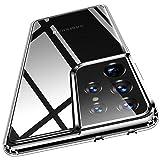 Humixx Crystal Clear Samsung Galaxy S21 Ultra Hülle[Military Grade Drop Tested], Anti-Gelb Stoßfest Anti-Fingerabdruck Kratzfest Slim Transparent Silikon Schutzhülle Handyhülle für Samsung S21 Ultra