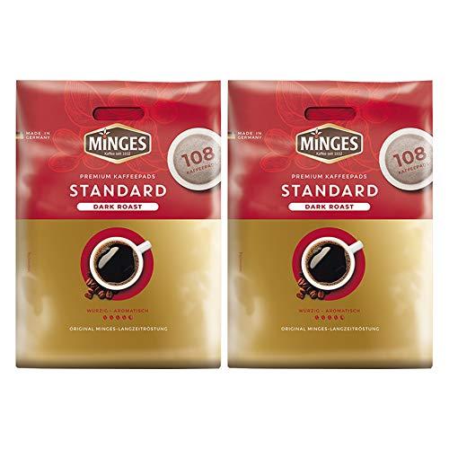 Minges Kaffeepads 2x Megapack Café Crème Dark Roast, Kaffee, 100 + 8 Kaffeepads Gratis - gemahlenen in Pads