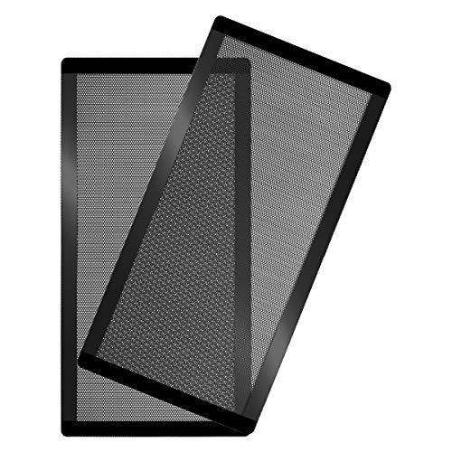 120 x 240mm PC Fan Dust Filter Magnetic Frame Computer Fan Grills Black Dust Mesh PC Cooler Filter Screen Dustproof Case Covers 2 Pack