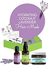 DIY Hair Mask Deep Conditioner- Coconut Oil (16oz), Argan Oil (4oz) Lavender Oil (1oz), Repair Dry, Damaged Or Color Treated Hair After Shampoo, Best For All Hair Types
