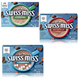 Swiss Miss Swiss Variety Hot Cocoa Mix, No Sugar Added, Milk Chocolate, and Marshmallow, 1 Box Of Each Flavor
