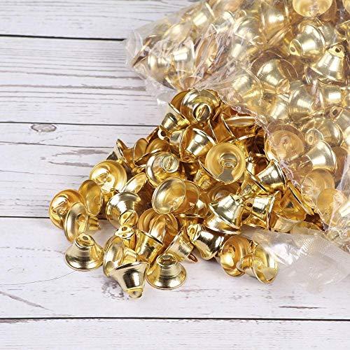 1cm 2cm kleine klokken voor ambachten mini jingle bells goud zilver huisdier opknoping metalen bel bruiloft kerstdecoratie accessoires, zilver 10st, 10mm