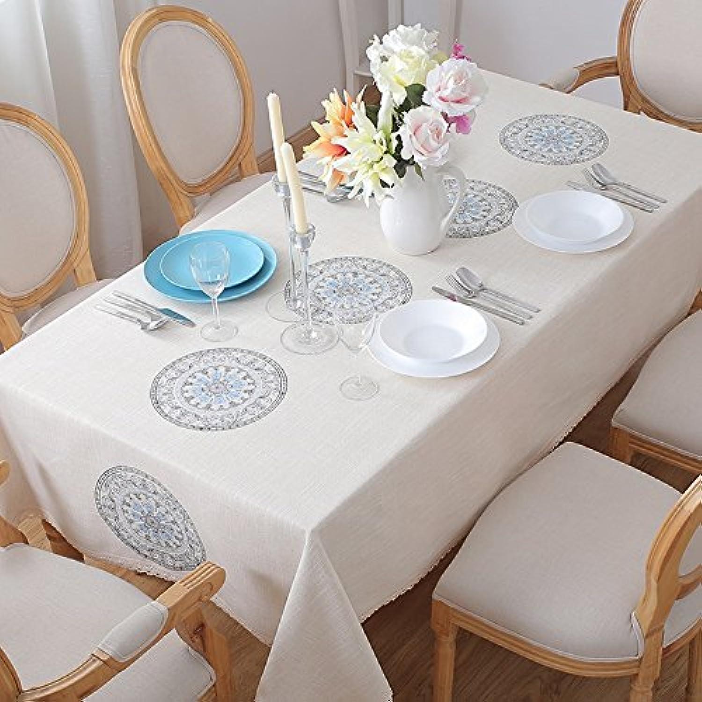 ASL Stickerei Tischdecke Stoff Kunst Baumwolle Imitation Leinen Rechteck Tisch Leinen Tee Tisch Tischdecke wählen (Farbe    2, größe   130  190CM) B078G4BWLL Ruf zuerst   | Qualität Produkt