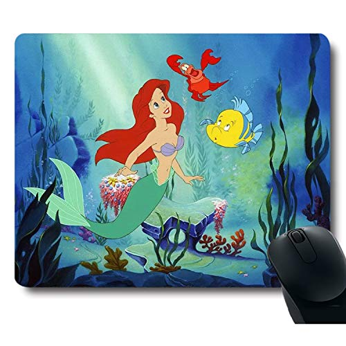 Classic Cute Character Pretty Girls with Fish Unique Design Funy Mouse Pad
