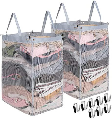 Laundry Hamper Inside Liner with Handles 2 Pack Mesh Laundry Bag for Hamper Removable Replacement product image