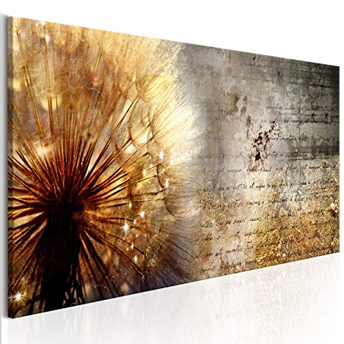 decomonkey Bilder Pusteblume Blumen 120x40 cm 1 Teilig Leinwandbilder Bild auf Leinwand Vlies Wandbild Kunstdruck Wanddeko Wand Wohnzimmer Wanddekoration Deko Wanddeko Abstrakt