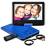 11.5' Portable DVD Player with HD 9.5' Swivel Screen, Rechargeable Battery with Wall Charger, Car Charger and AV Cable, Sync TV Projector Function, Support USB Flash Drive SD Card, Region Free