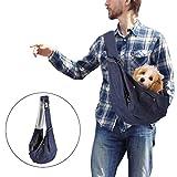YOUTHINK Tragetuch Hunde, Hundetragetasche Freihändige Verstellbare für Kleintiere Hunde/Katzen bis 4kg Atmungsaktiver Schleuderträger Haustierträger mit Netz und Sicherer Schnalle
