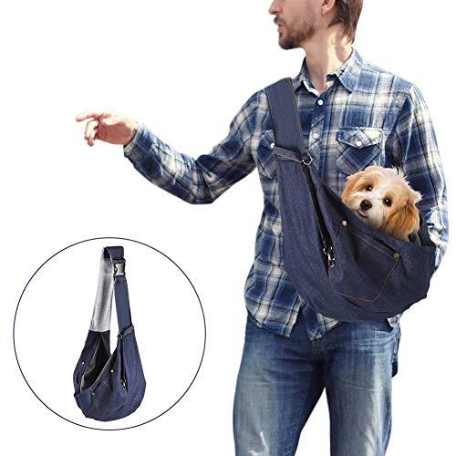 YOUTHINK Bolso pequeño para Perros, Bolso de Transporte para Gatos, Bandolera con Bolsillo, Bolsa de Viaje con cómoda Correa para el Hombro con cordón, Cachorros de Menos de 4 kg