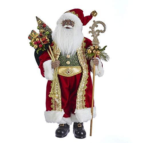 Kurt Adler 18-inch Kringle Klaus African American Santa