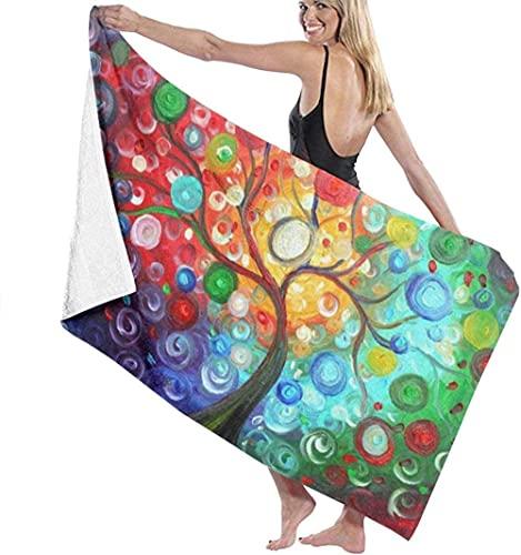 Telo mare Albero di limone stravagante pittura astratta asciugamano da bagno super morbido stampa carina e squisita nuoto spa asciugamano doccia campeggio yoga asciugamano moda formato personalizzato