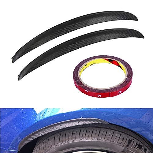 WANYIG Auto-kotflügelverbreiterungen 25CM Universal Kotflügel Verbreiterung Carbon Radlaufleiste Auto Radlaufverbreiterung Verbreiterung Auto Rad Schutz Dekoration(2 Stück)