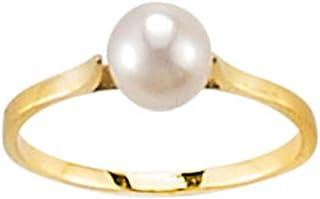 241799eff55f4 SF Bijoux - Bague or jaune 750/1000e perle de culture et diamant - Blanc