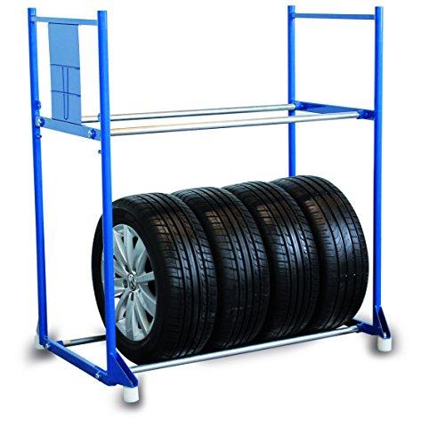 Kunststofffüße für Reifenregal (4 Stück) Weiß