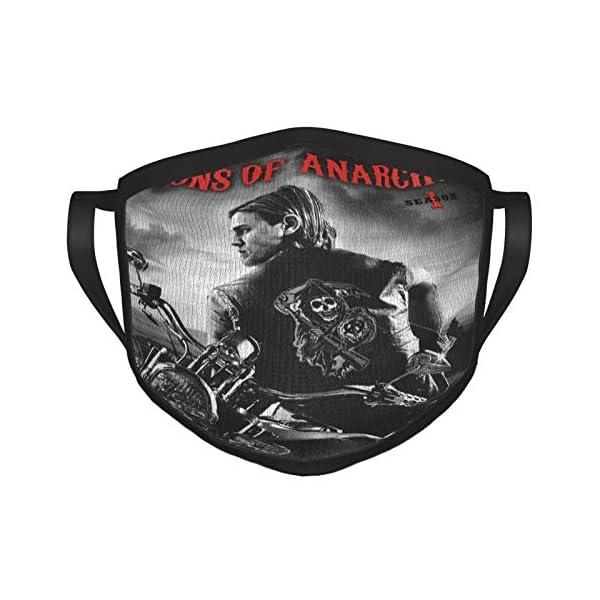 So-Ns O-F Anar-Chy – Season 1 Adult Black Border Mask, Portable Face Protection,Bandana,Elastic...