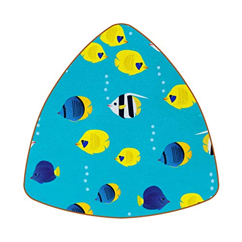 Colourful Scartoon Coral Reef Fish Juego de 6 Posavasos para Bebidas para...