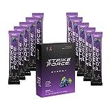 Strike Force Energy Drink Mix - Healthy Water Enhancer + Caffeine, Vitamin b12 & Potassium - Natural Tasting Flavor for Keto, Sugar Free & Vegan Diets. Liquid Energy Packets - Grape Flavor (10 Count)