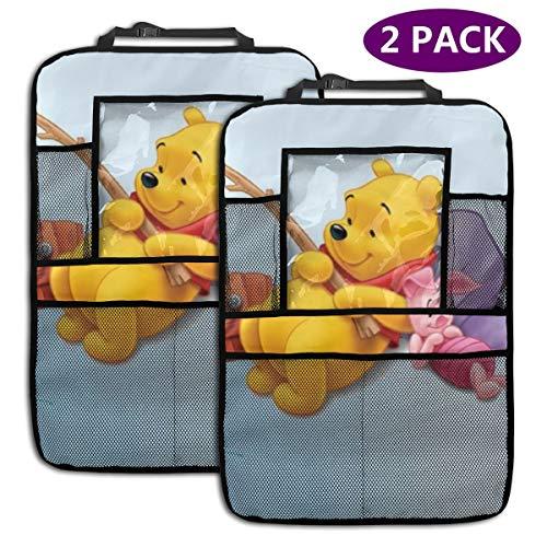 TBLHM Winnie Pooh Lot de 2 Sacs de Rangement pour siège arrière de Voiture avec Support pour Tablette