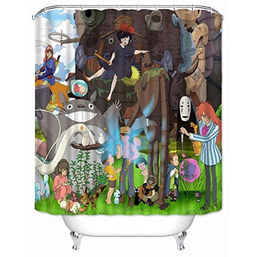 None brand Benutzerdefinierte Hohe QualitäT Mein Nachbar Totoro Duschvorhang Wasserdichter Bad Polyestergewebe Badezimmer Vorhang-W150XH180cm