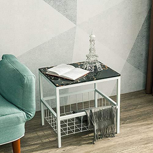 Bureau DD Marmeren Sofa Bijzettafel, Woonkamer Slaapkamer Koffietafel, Gouden nachtkastje/Vierkante Tafel -Werkbank