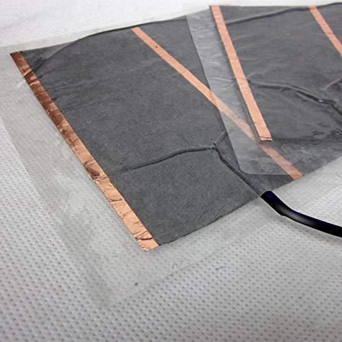 Knowled Heizteppich Elektrisch Infrarot Wärmeplatte Heizteppich USB 5V Elektrischer Heizmatte Infrarot Matte für Mauspads und Fußwärmer, Geringer Stromverbrauch, Bezug Waschbar, 15 × 16,5 cm Typical