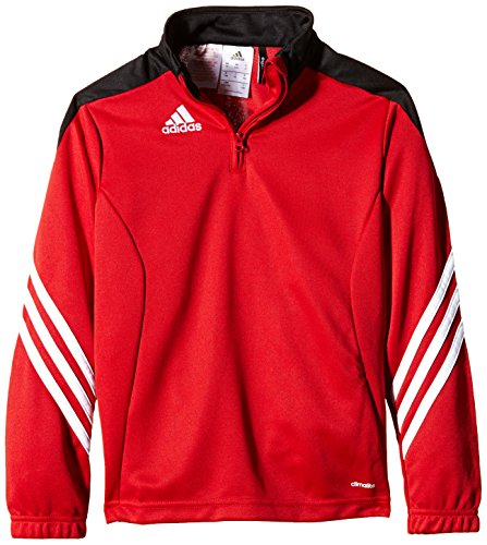 adidas Kinder Sweatshirt Sereno 14 Trainingstop, University Red/Black/White, 140