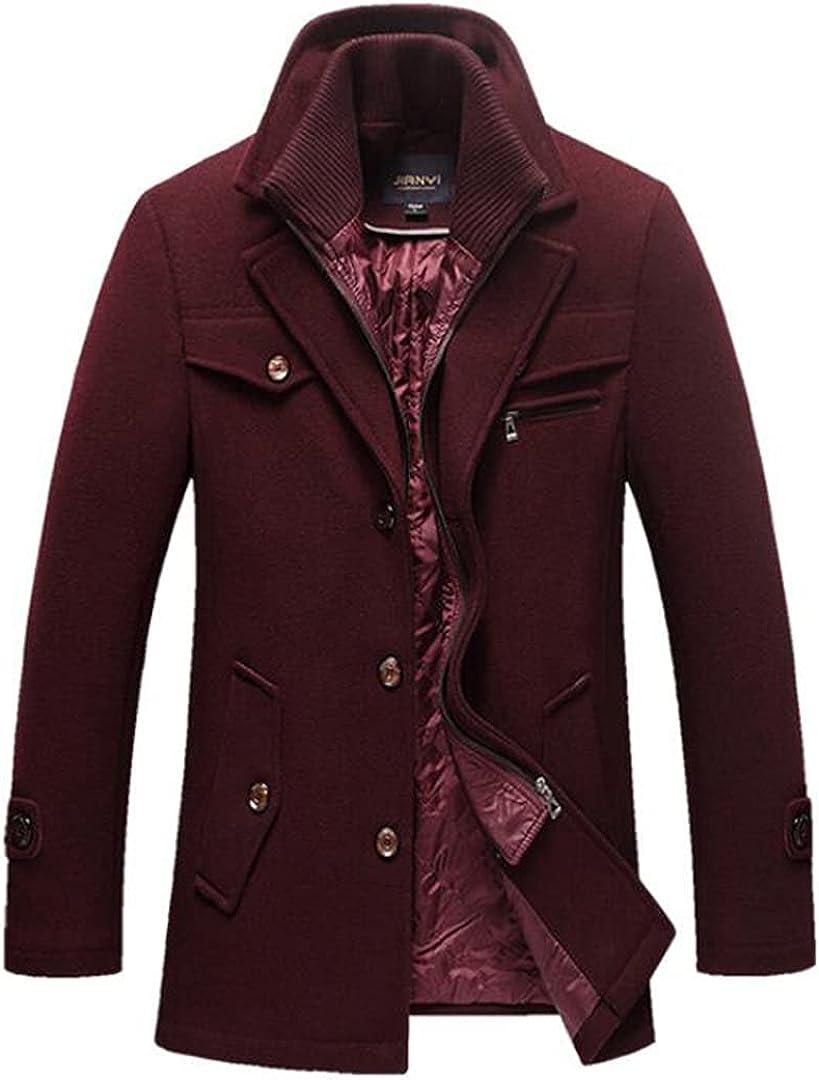 Men Winter Thick Windbreaker Long Woolen Overcoat Casaco Trench Wool Jackets